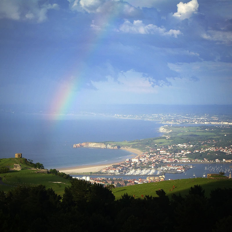 domaine d'Abbadie sur la corniche basque, au nord de la ville d'Hendaye