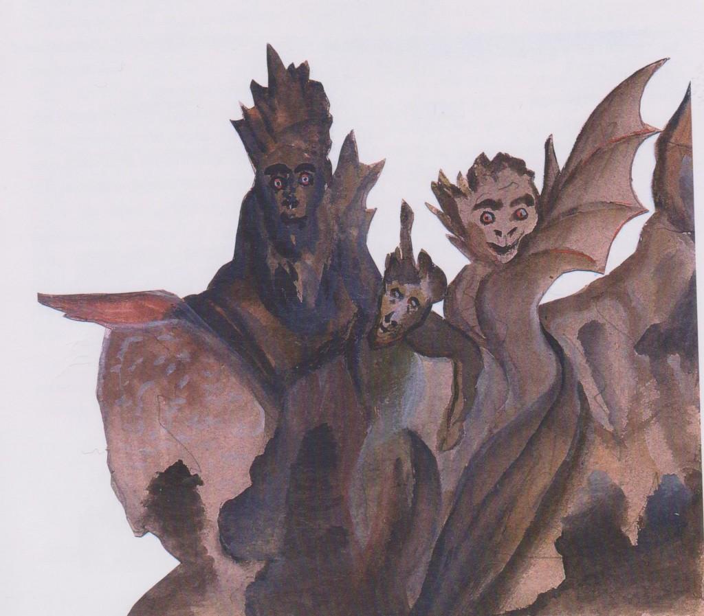 10 - dessin exécuté par Julien Viaud enfant et destiné à illustrer peau d'âne
