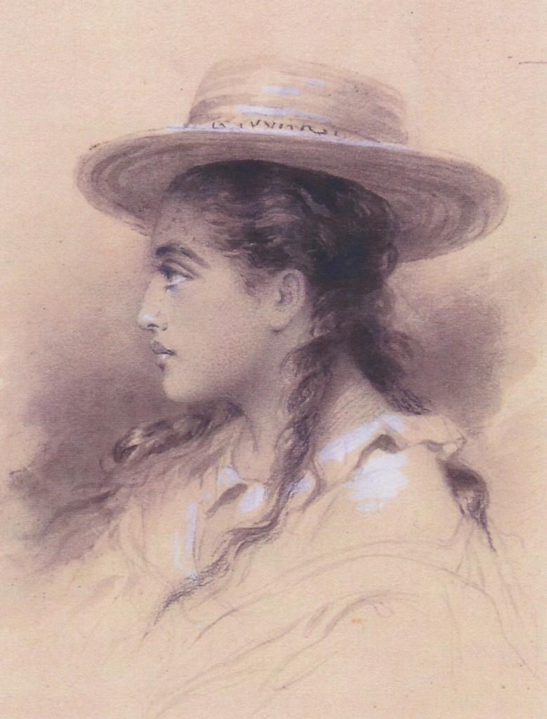 12 - Le profil de Rarahu, dessin de Pierre Loti, collection particulière