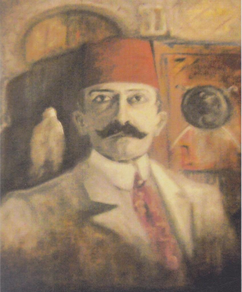 22 - Portrait inédit de Pierre Loti (collection particulière) sans doute exécuté dans l'entre-deux-guerres et signé Roland Michel.