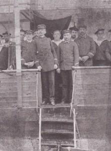 1892 Hendaye . à bord du Javelot