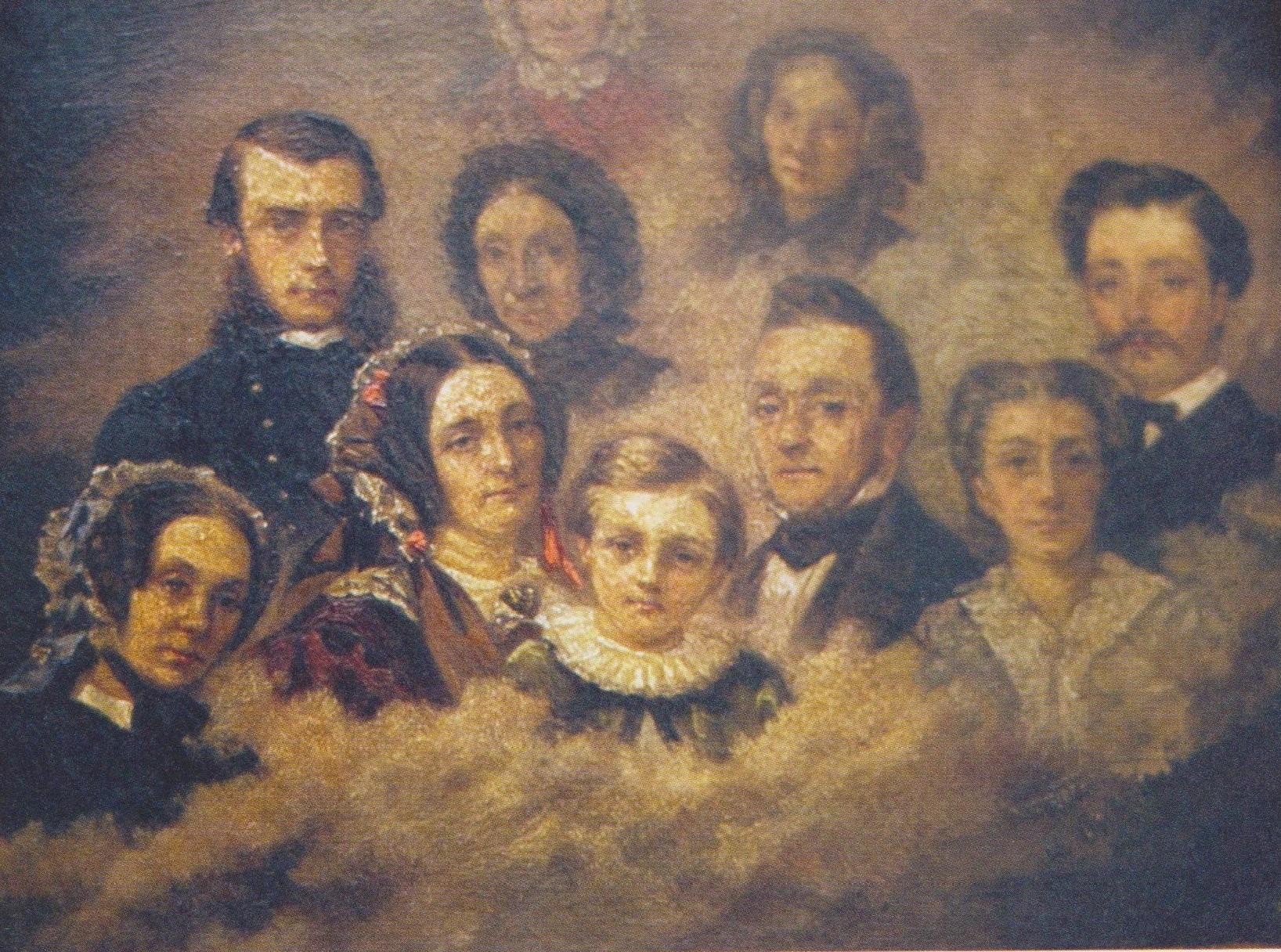 Portrait de famille. Vers 1855. Rochefort.