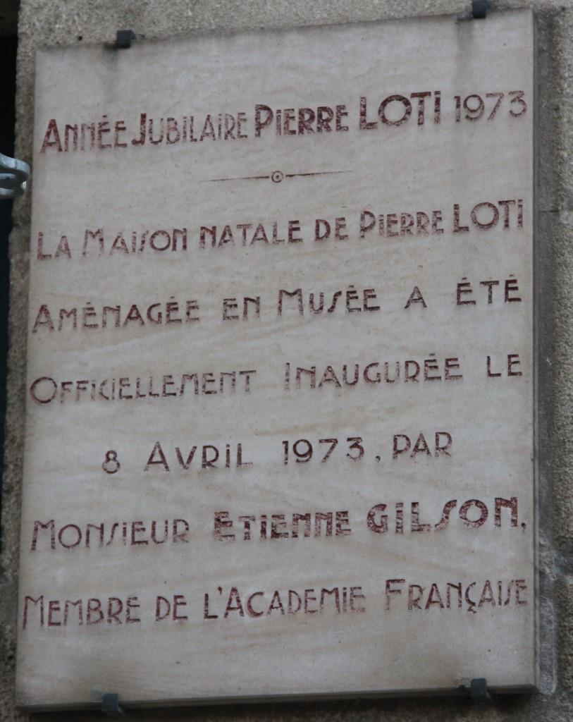 plaque musée maison natale LOTI - JX1953