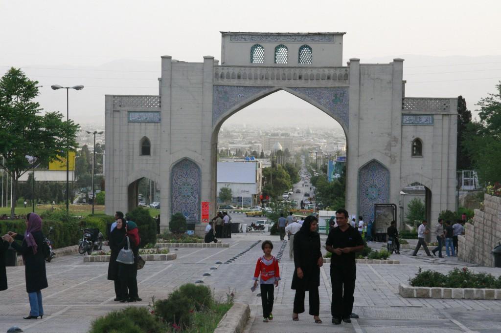 A Shiraz, porte sous laquelle loti est passé pour aller à Ispahan