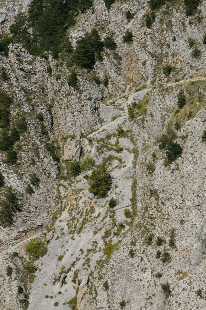 La route par laquelle est monté, à cheval, de Kotor à Cétigne (voir voyage de quatre officiers)