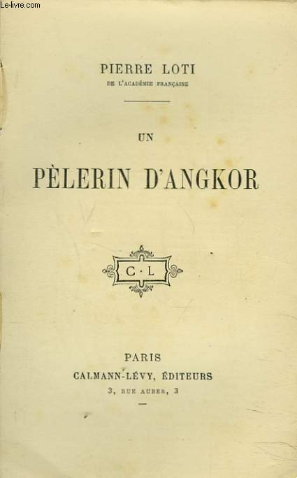 couverture livre un pélerin d'Angkor