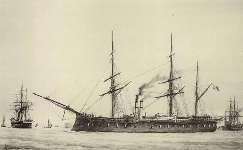 La Thetis (corvette-cuirassée) 1865