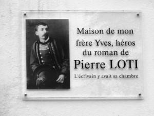Pierre Loti costumé Breton - plaque maison-chambre