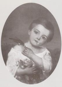 portrait de Julien à quatre ou cinq ans. Peinture à l'huile exécutée par Marie Viaud vers 1854