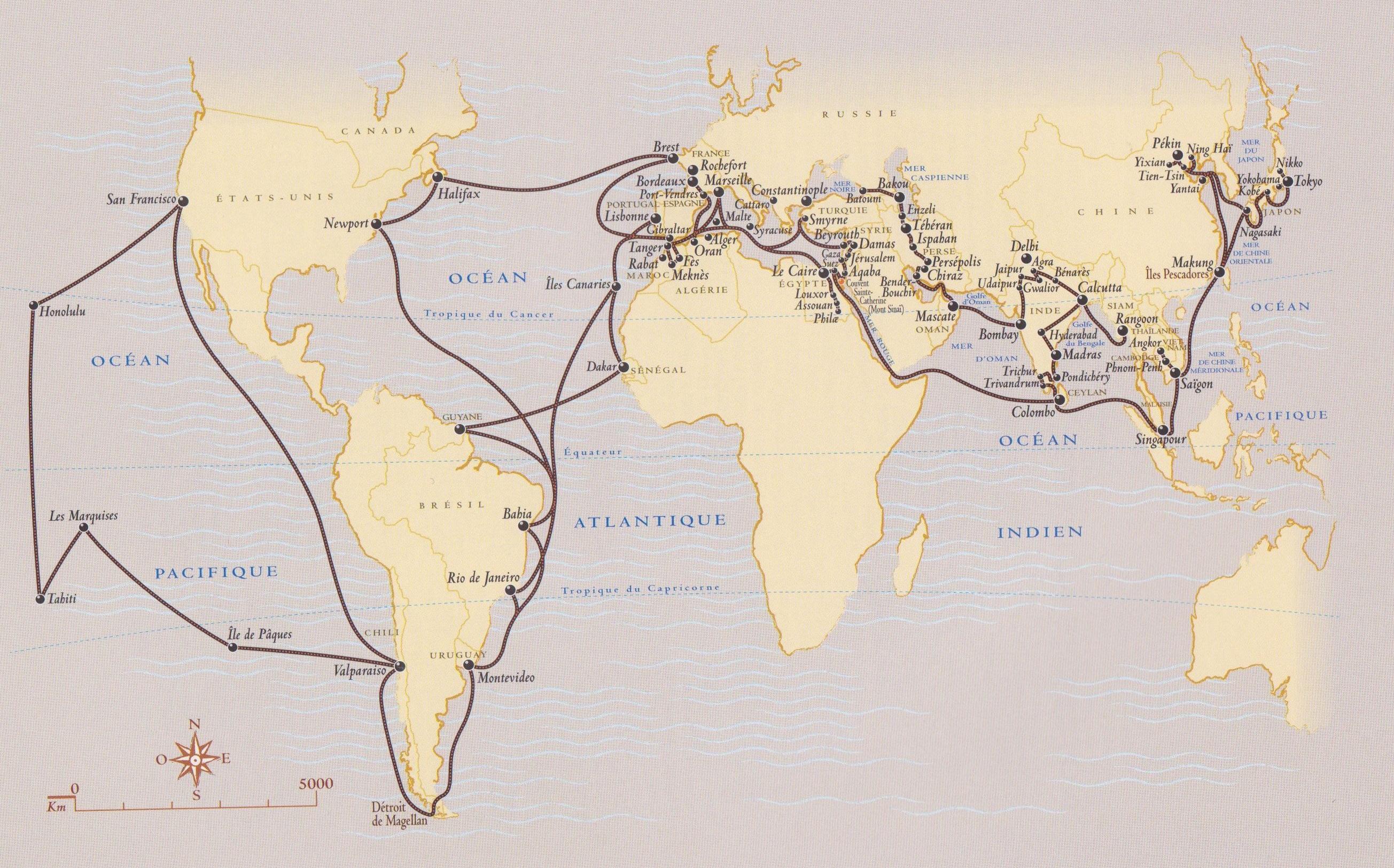 carte voyages de LOTI