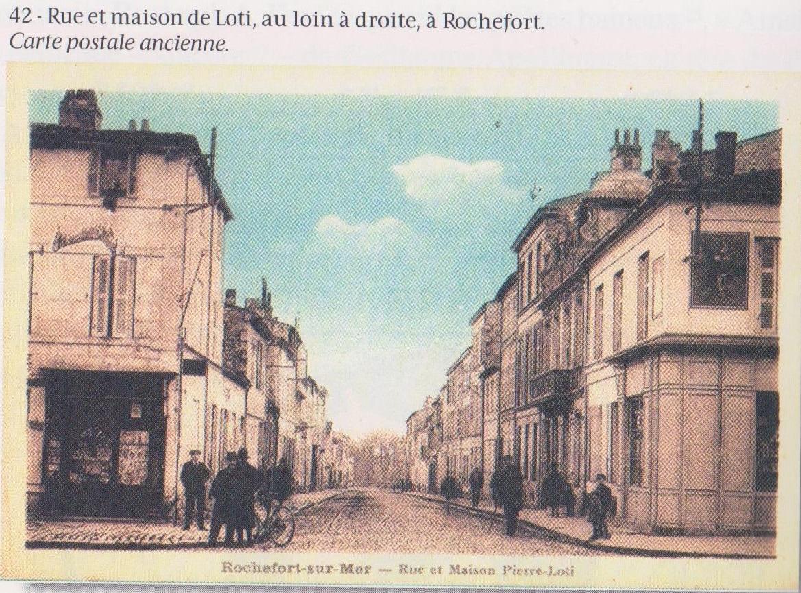 Carte postale-rue Pierre Loti