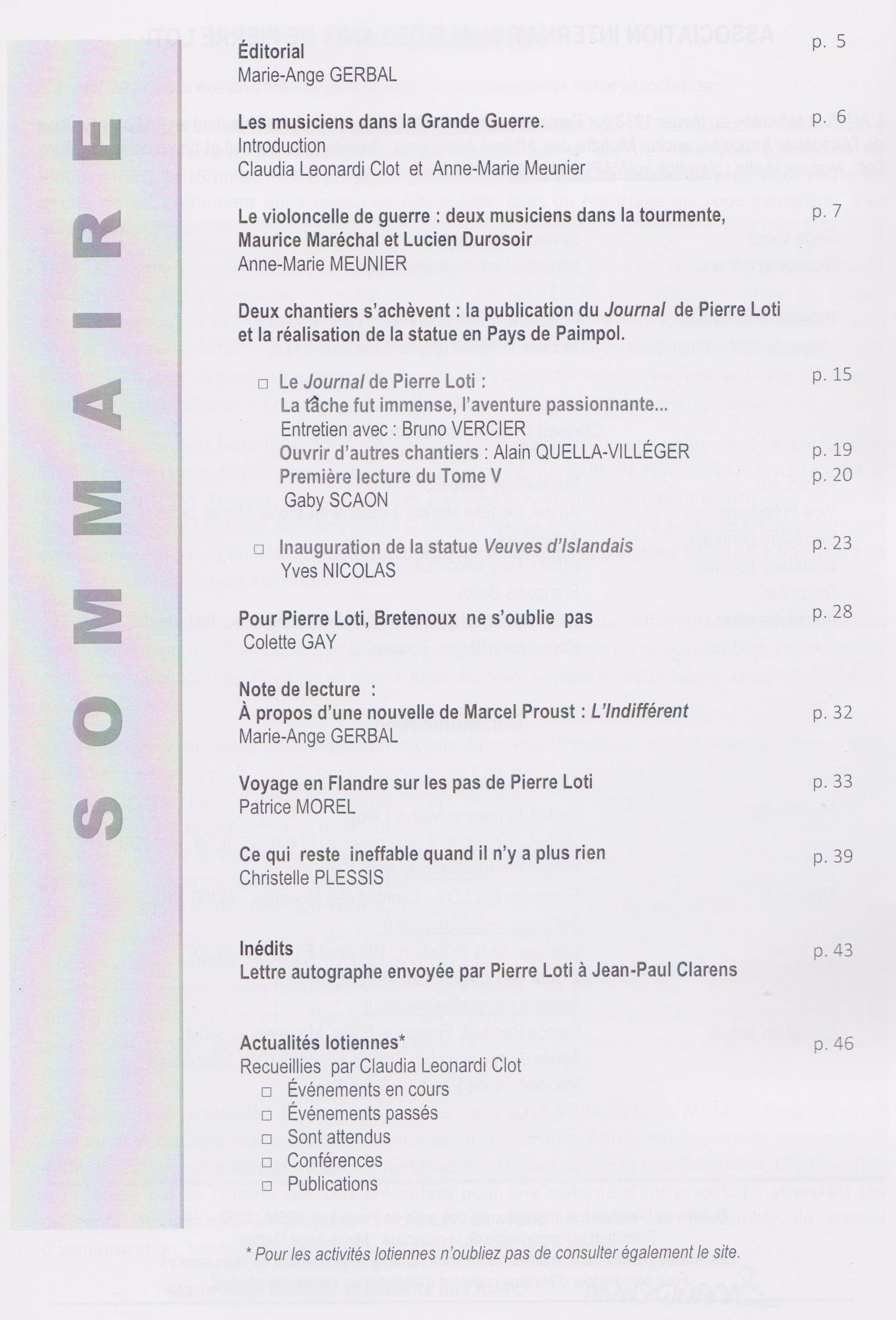 Bulletin sommaire n°37 rectifié