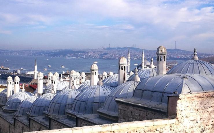 La vue depuis les jardins de la mosquée Süleymaniye. ©SP