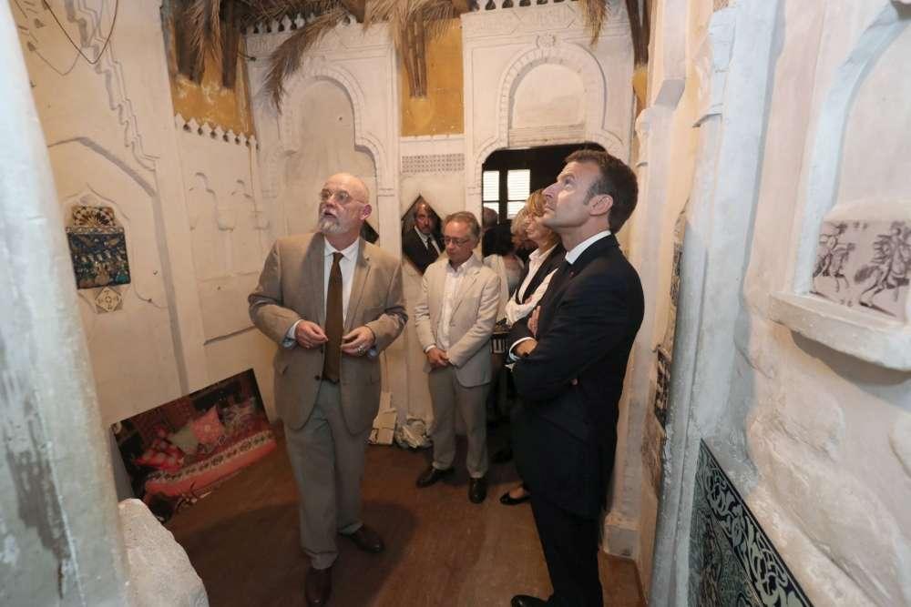 visite maison de pierre loti par emmanuel macron