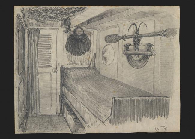 La cabine de Julien Viaud (dit Pierre Loti) – côté gauche