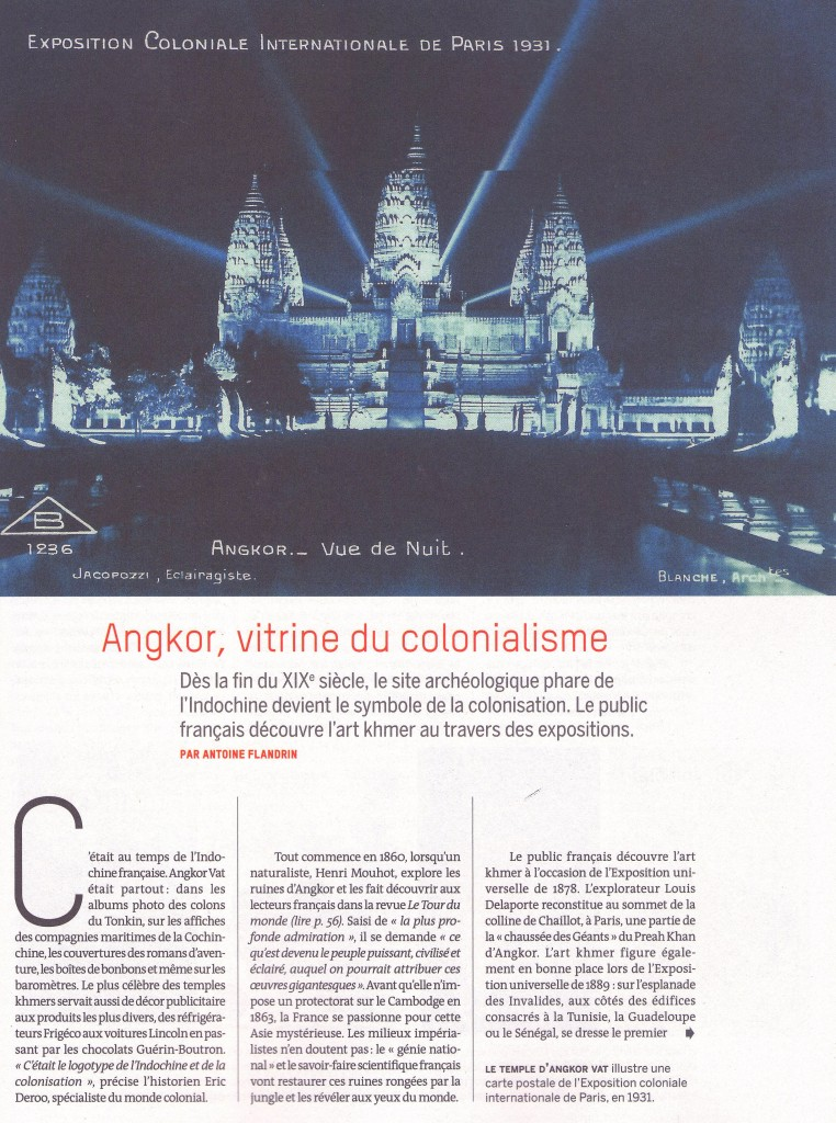 Angkor-vitrine colonialisme
