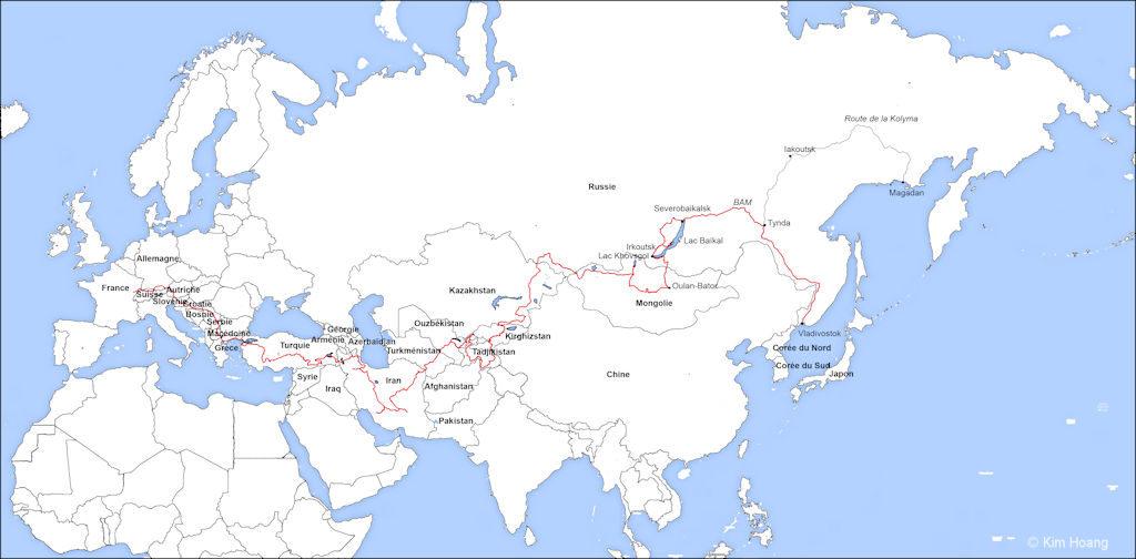 Itinéraire Magadan