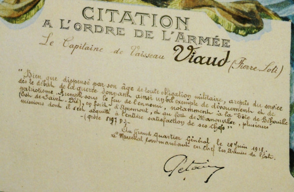Citation Pétain 1918