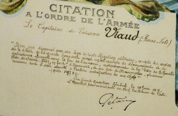 Citation Pétain 1918