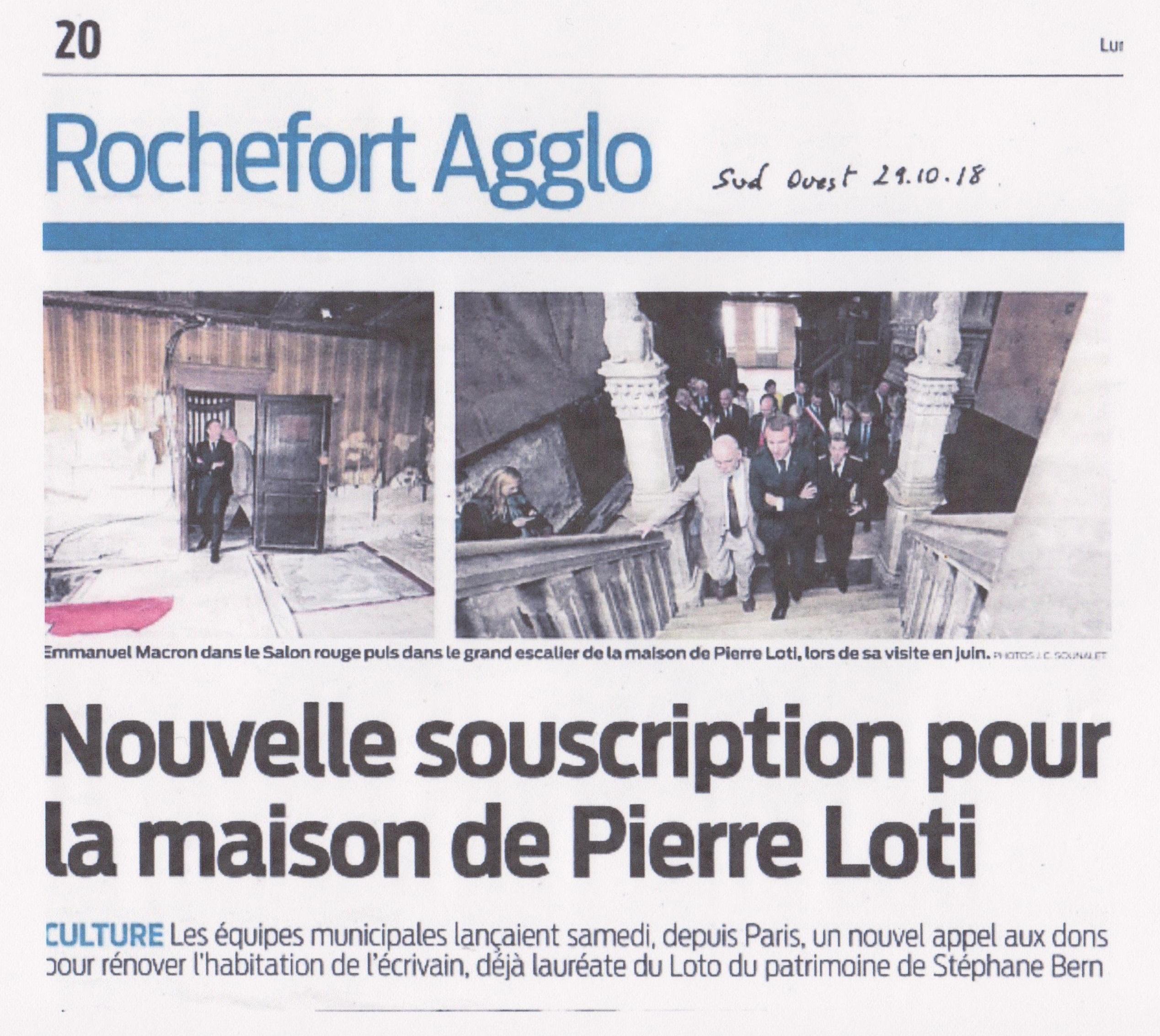Article Nvlle souscription maison Pierre Loti-1a