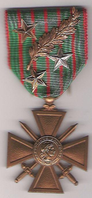 Croix guerre 1914-1918 française-copyright