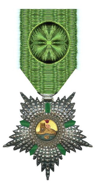 l'Ordre du Lion et du Soleil de Perse avec grand cordon vert