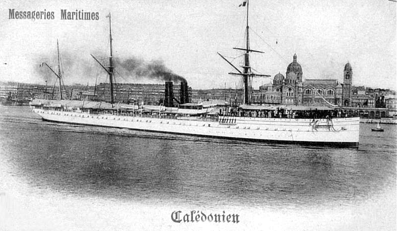Le Calédonien à Marseille entre 1895 et 1903-Photo Collection P.Ramona