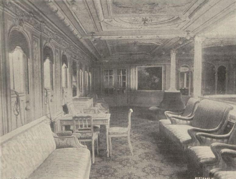 Le salon des dames à bord de La Savoie