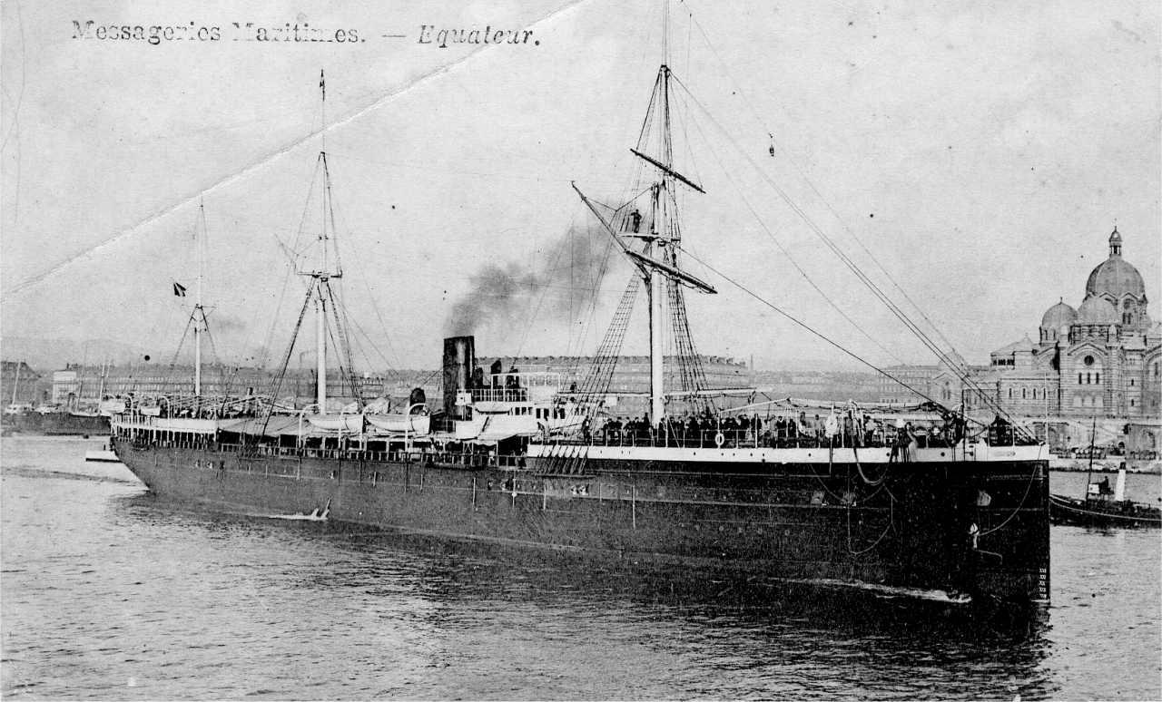 l'Equateur dans le port de Marseille-Photo Collection F.Subercaze