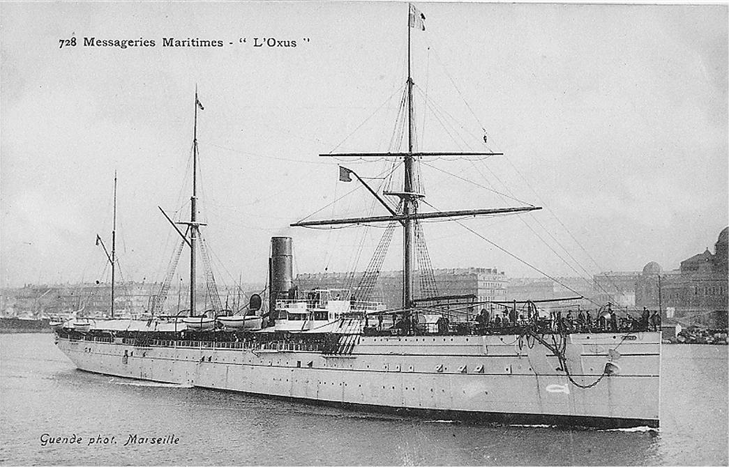 l'Oxus à La Joliette à Marseille entre 1895 et 1905-Photo Collection P.Ramona