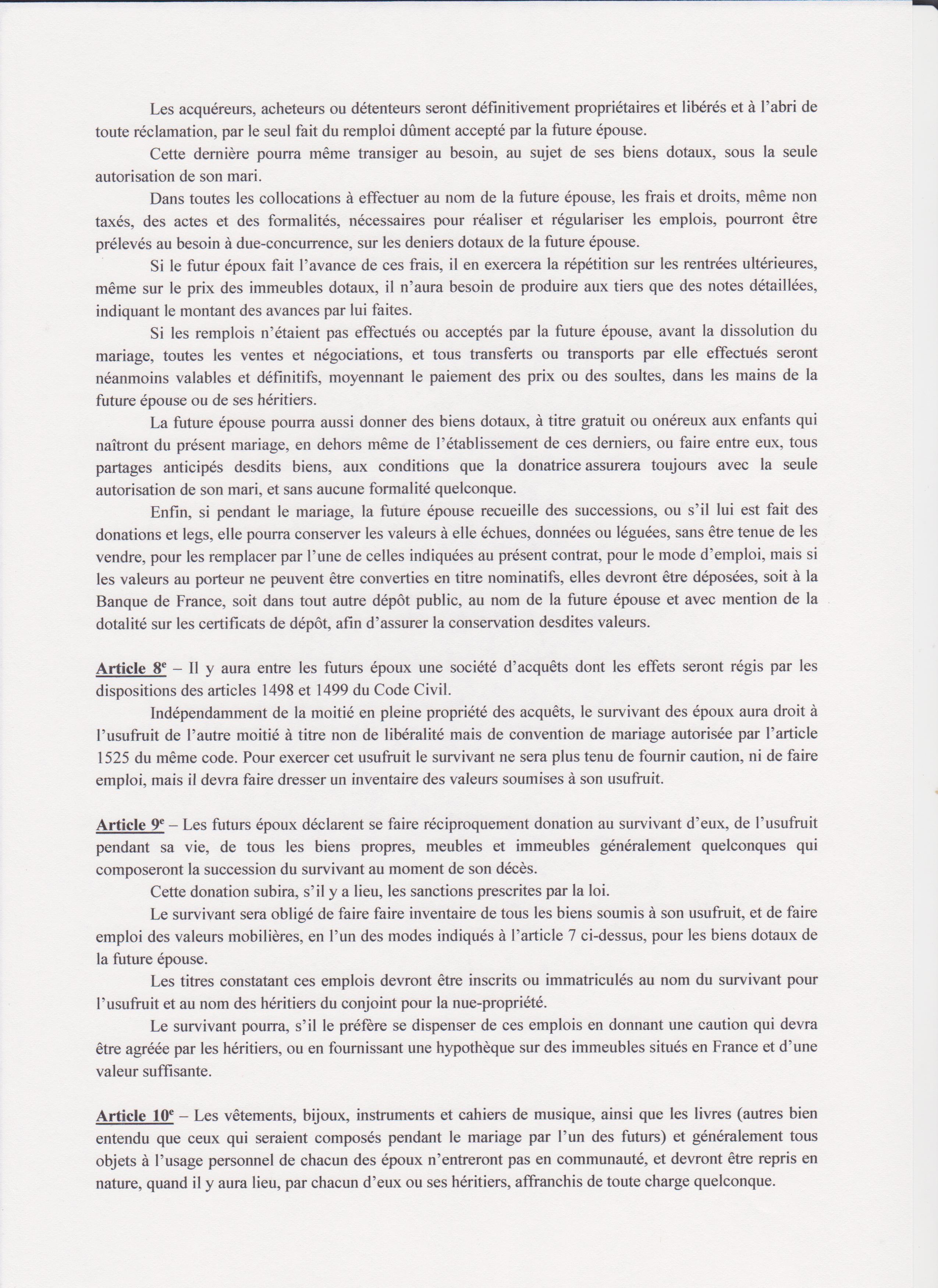 Contrat Mariage 8