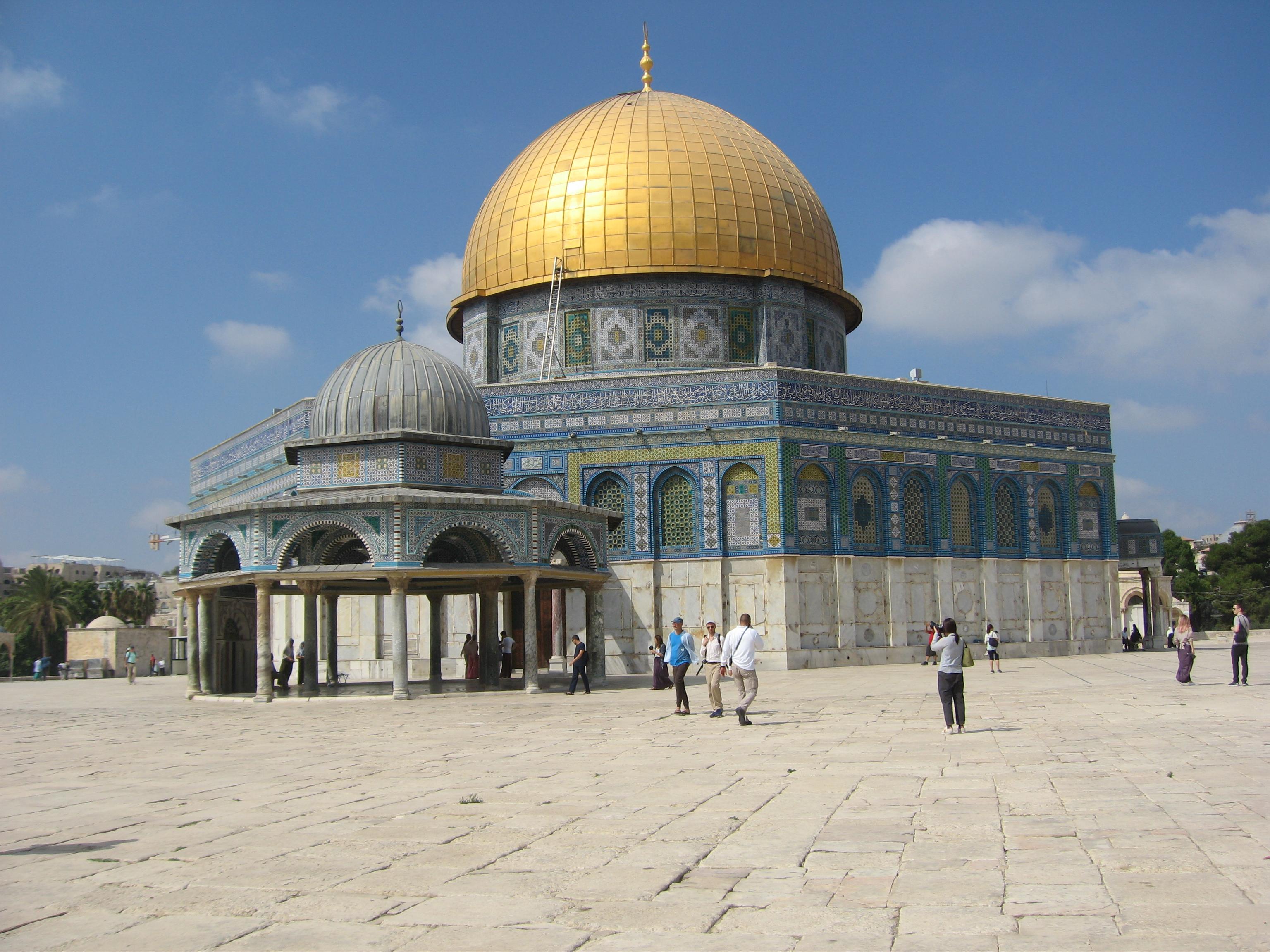 13-Le Dôme du Rocher sur l'Esplanade des Mosquées