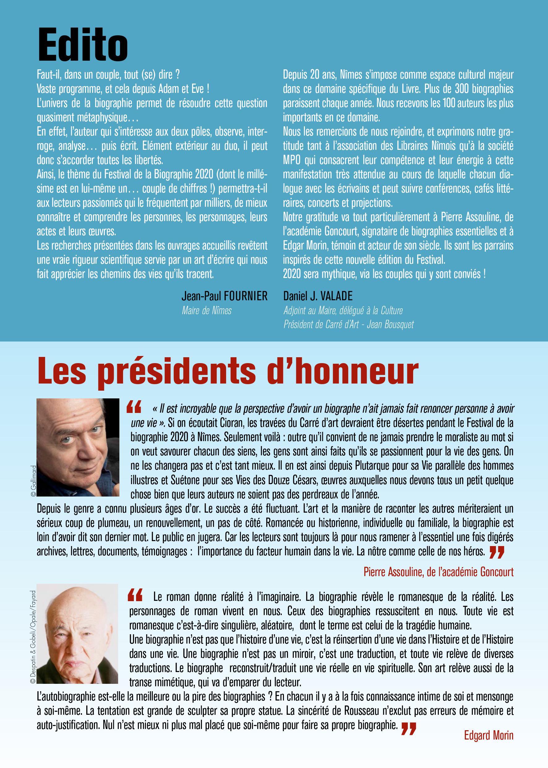 Festival Bigraphie Nîmes 2020-2