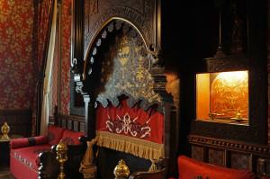Le petit salon dit arabe du château Abbadia