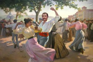 D'après un tableau de Ribera (1900) au Musée basque