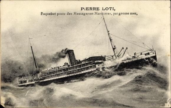 Le Pierre Loti par grosse mer