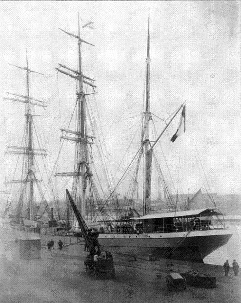 Trois-mâts barque Pierre Loti à quai à Nantes