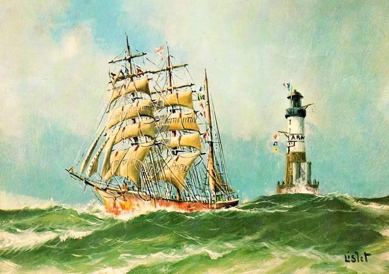 Un trois-mâts barque donné comme étant le PIERRE LOTI, par Lislet