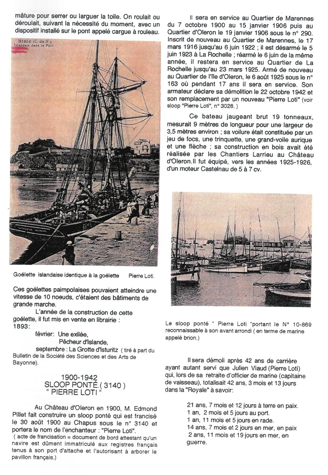 2-Bateaux et canots baptisés Pierre Loti - Jean Nonin