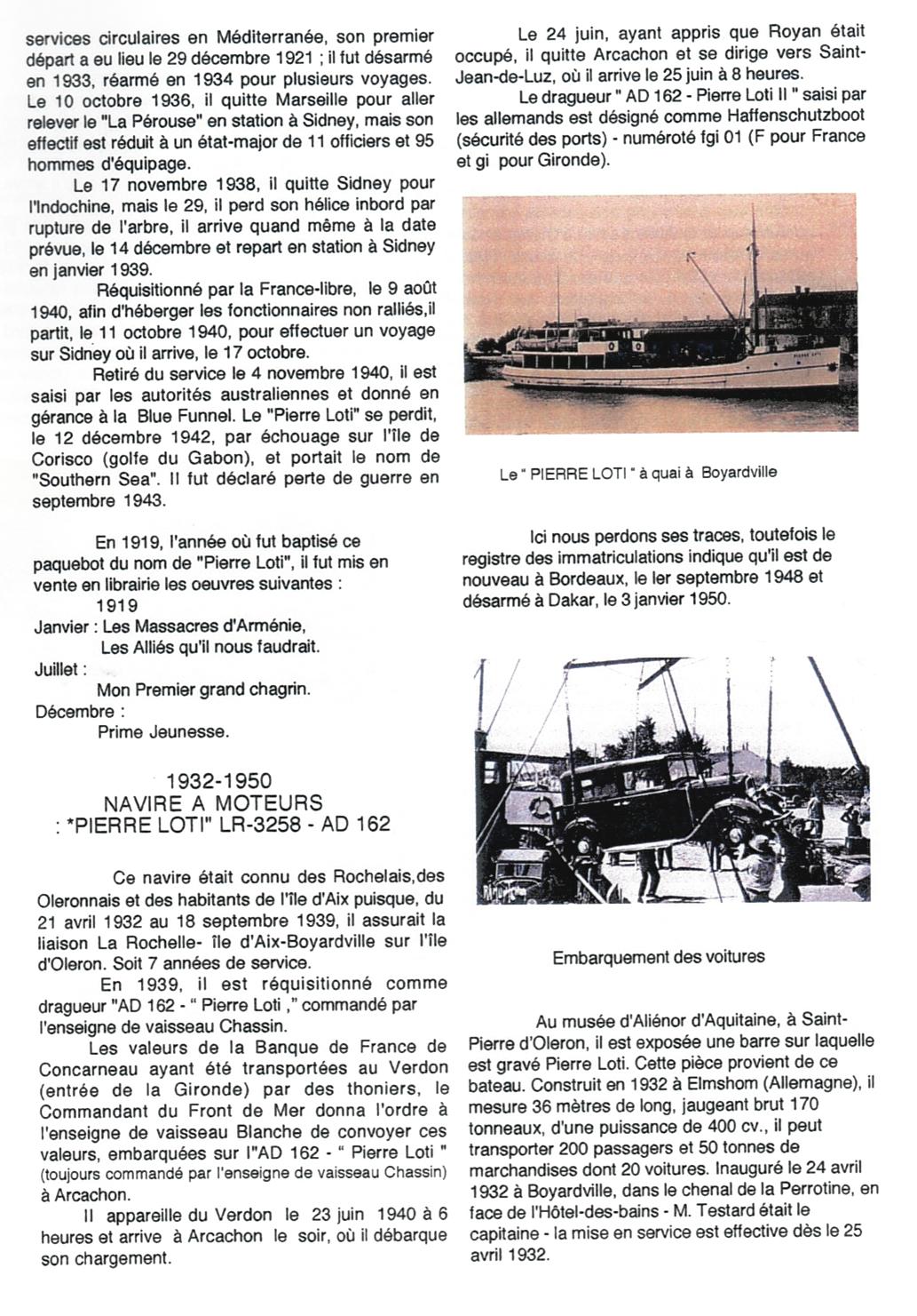 4-Bateaux et canots baptisés Pierre Loti - Jean Nonin