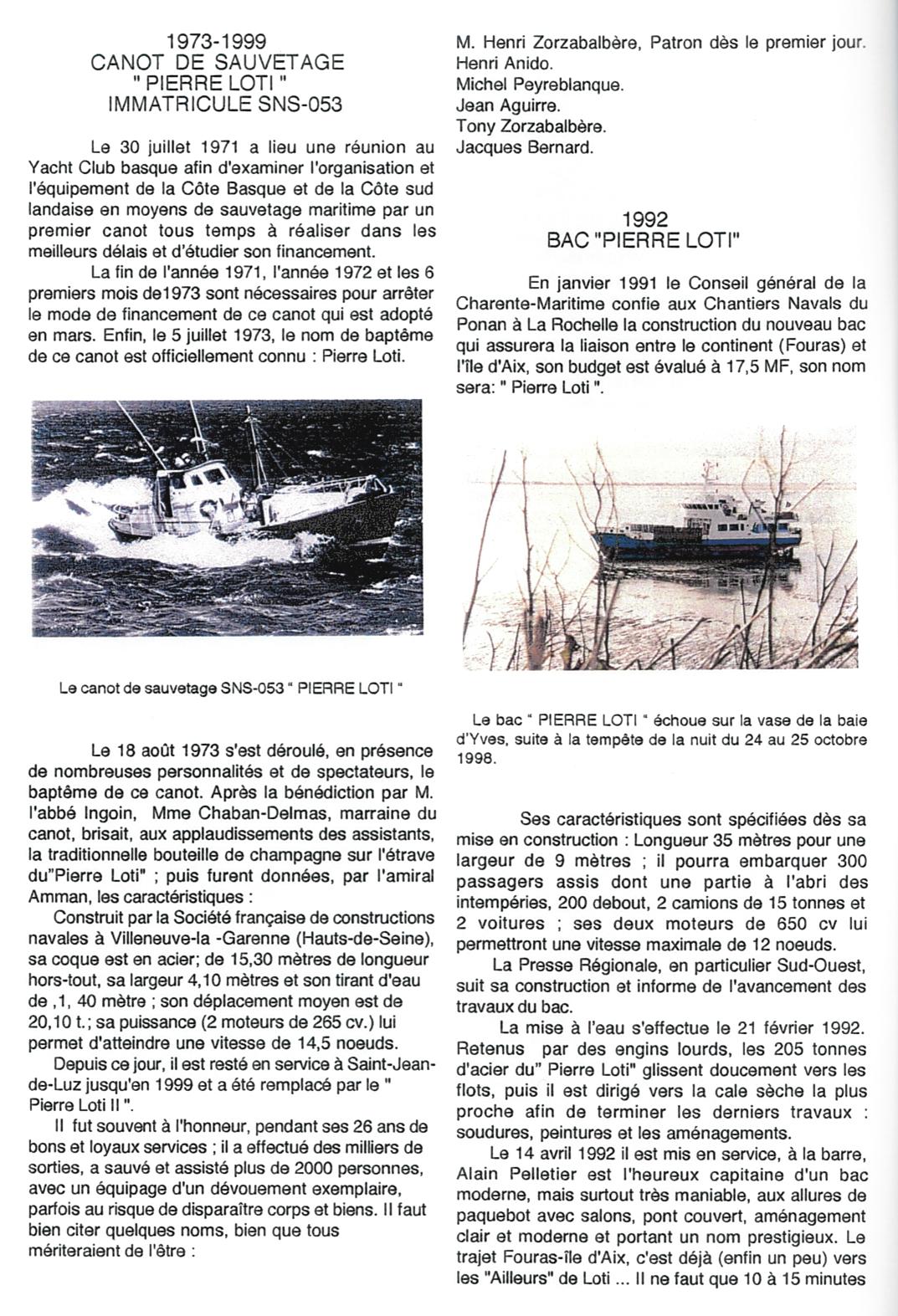 7-Bateaux et canots baptisés Pierre Loti - Jean Nonin