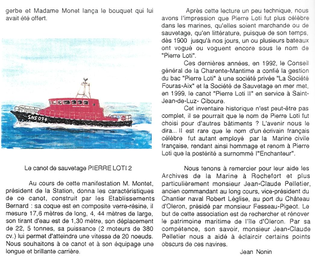 9a-Bateaux et canots baptisés Pierre Loti - Jean Nonin