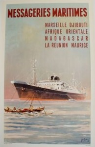 Affiche messageries maritimes - le Pierre Loti