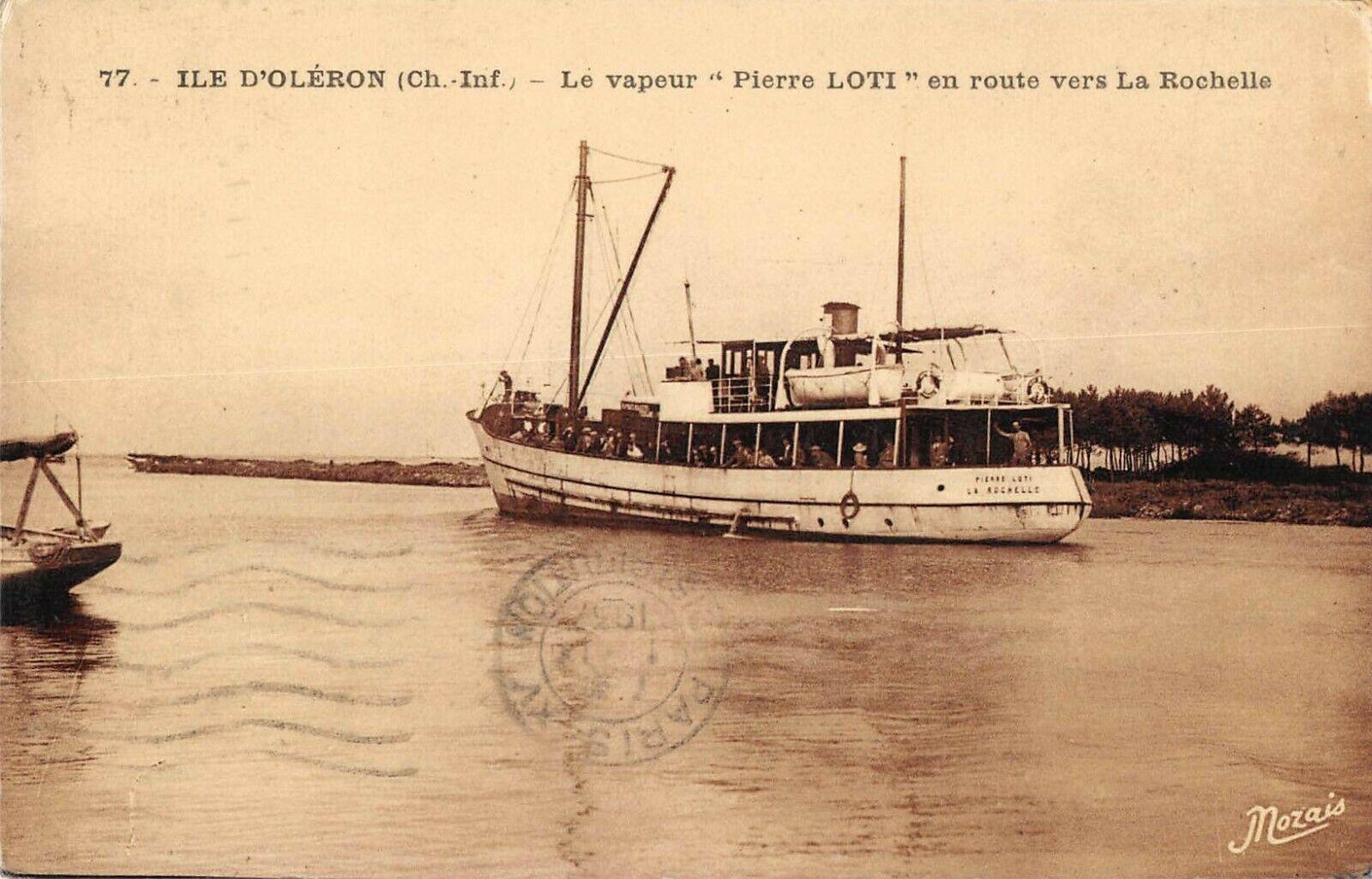 Cpa-17-Ile-Doleron-Le-Vapeur-Pierre-Loti