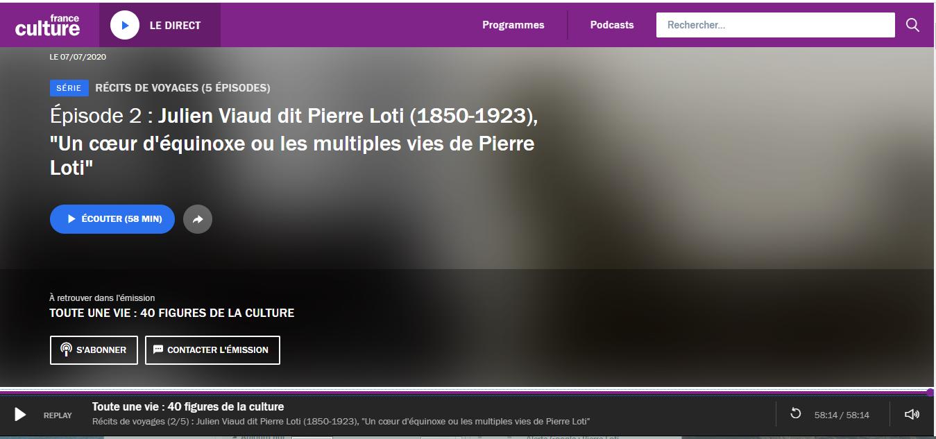 France Culture-Pierre Loti