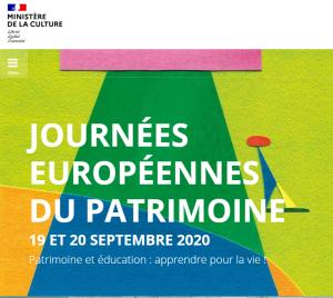 Logo journées patrimoine 2020