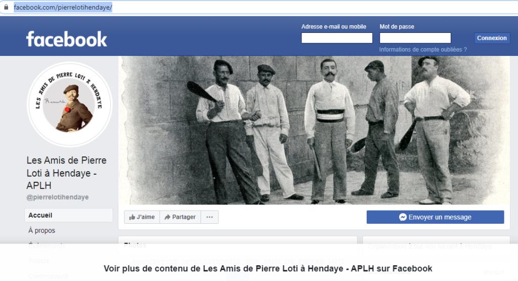 Page facebook Hendaye