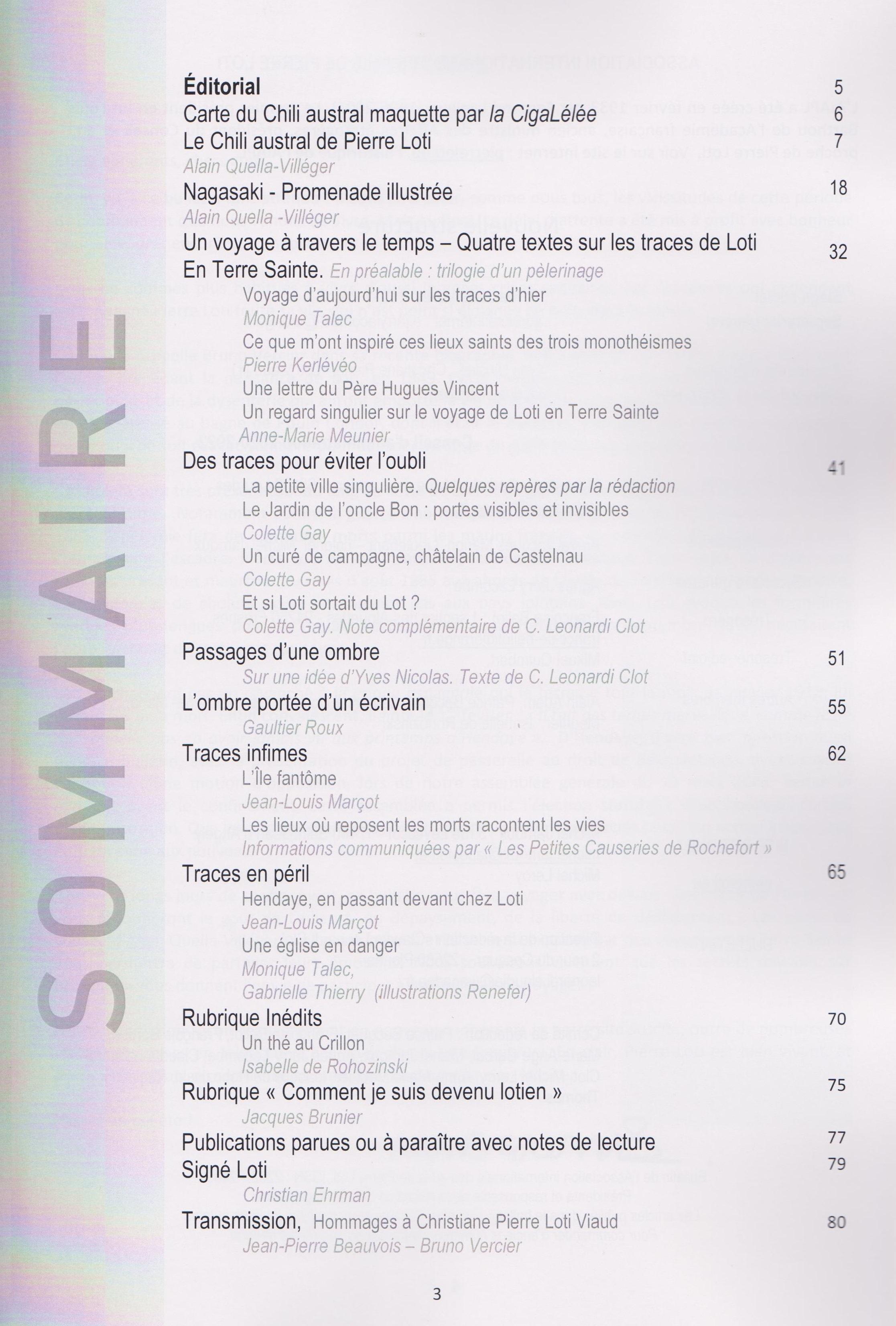 Sommaire bulletin 40