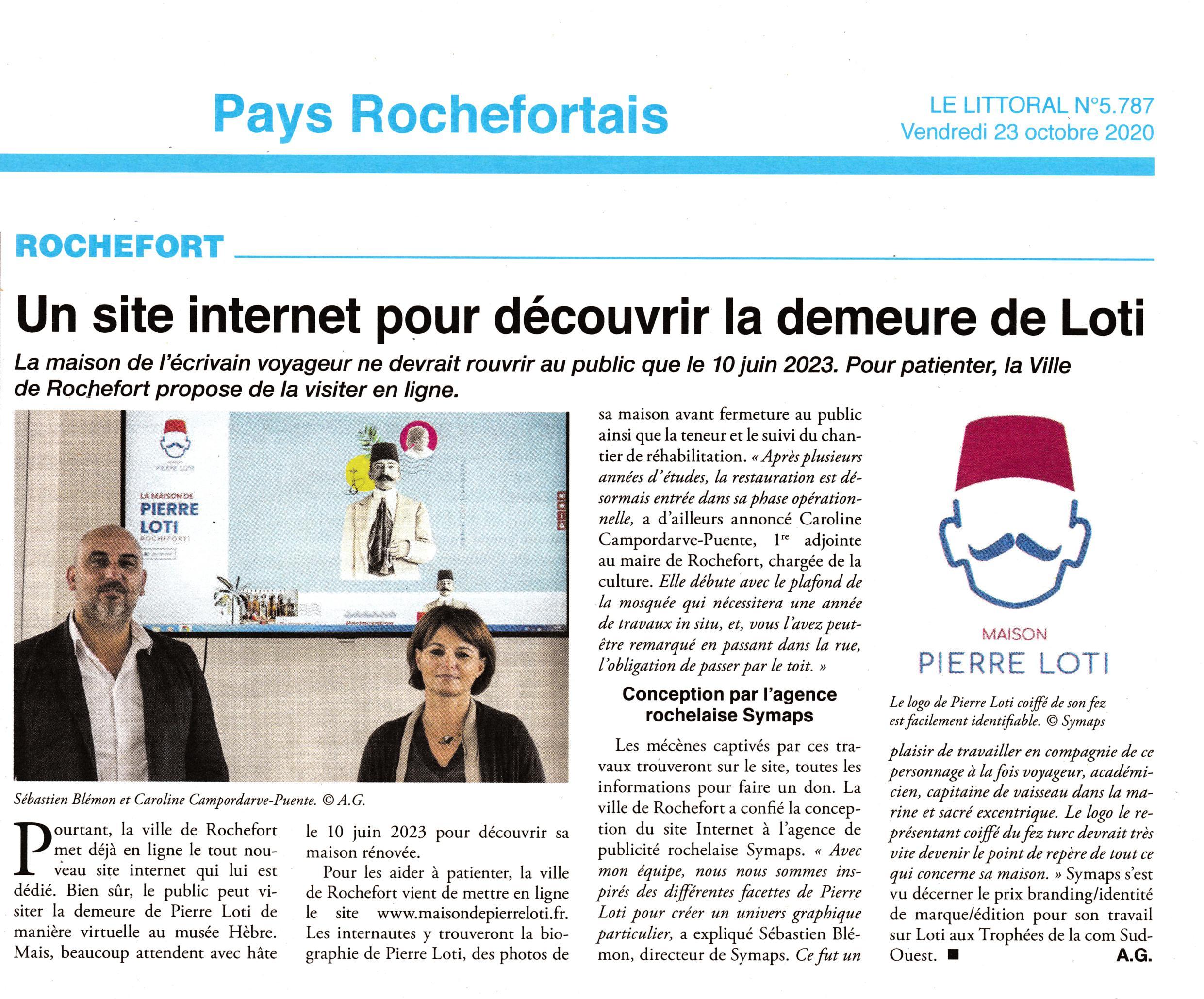Art. journal pys rochefortais-site maison Loti-25-10-2020