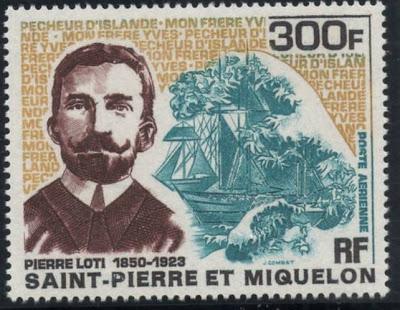17-Loti Pierre timbre 300 F Saint-Pierre et Miquelon-1969